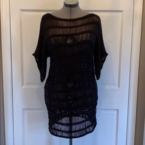 Black loose knit dress. Perfect summer cover up!